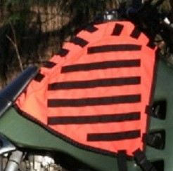 Orange Tank Vest for KLR650 2008 and Newer