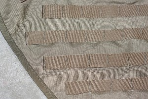 Coyote Brown Tank Vest for KLR650 w/ IMS 10 gal
